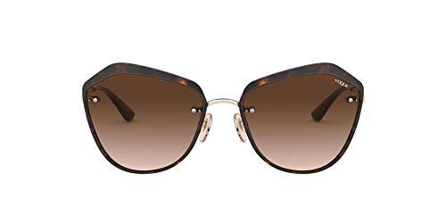 Vogue Eyewear 0vo4159s Occhiali da Sole, Pale Gold/Dark Havana (848/13), 55 Unisex-Adulto