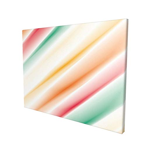 """Hat&C Modern Art Home Decor Purity Complex Themed Blurry Gradient Diffraction Display Creative Concept Multipainting 12"""" X 16"""" Panoramic Canvas Wall Art"""