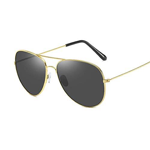 Gafas De Sol Gafas De Sol Vintage Hombre Gafas De Sol Mujer Anteojos Spring Leg-Gold_Gray