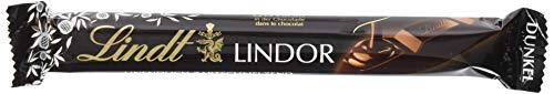 Lindt & Sprüngli  Lindor Stick Dark 60%, Edelbitter-Schokolade mit zartschmelzender Füllung, glutenfrei, 12er Pack (12 x 37 g)