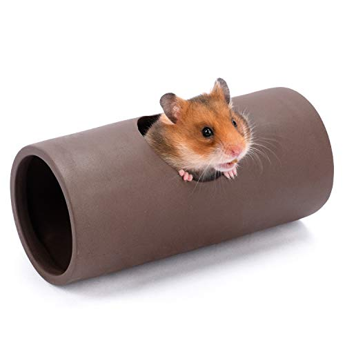 Niteangel Ceramic Hamster Tunnel & Tubes Hideout: for Dwarf Robo Syrian Hamsters Mice Rats or Other Small Animals (Tunnel - Small)