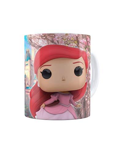 SERUNICOMOLA Taza Princesas Disney Funko. Regalo niñas. Castillo Disney. (Ariel)