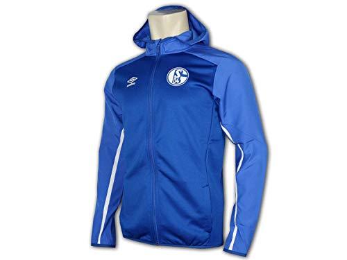 UMBRO FC Schalke 04 Kinder Jacke mit Kapuze S04 Junior Fan Sportjacke Hoodie, Größe:152