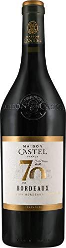 Castel Frères Maison Castel 70 ans Bordeaux AOC (1x 0,75l) Rotwein-trocken - ab 6 Flaschen erfolgt Lieferung in Original-Holzkiste
