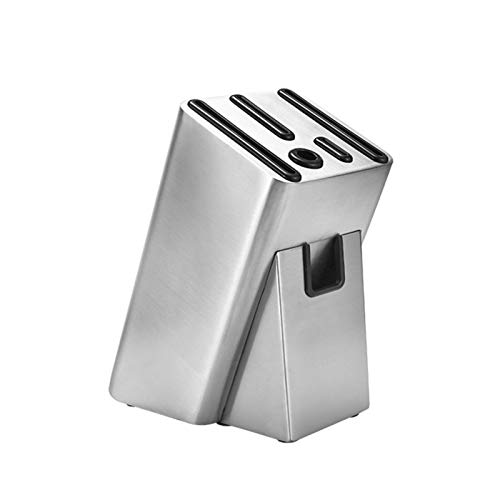 Cuchillos Bloque de soporte de cuchilla de acero inoxidable Multifunción Tijeras Sáquidos de almacenamiento Organizador de cuchillos de cocina Soporte de cocina soporte (Color : Knife Holder)