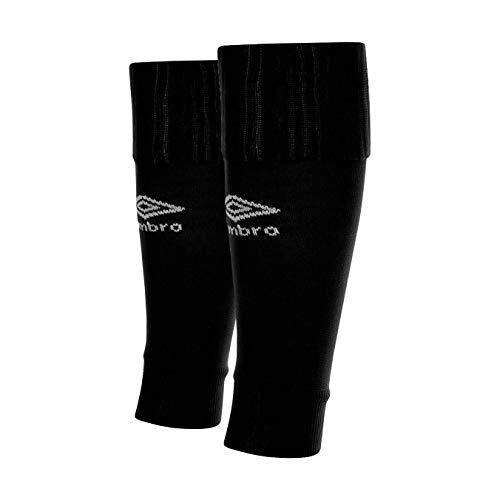 UMBRO Footless Socks Medias De Fútbol, Niños, Negro, Talla Única