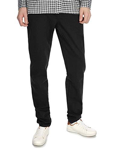 BEZLIT Kinder Jungen Chino Hose Röhren Stretch Jeans Optik Hosen RX 30001 Schwarz 140
