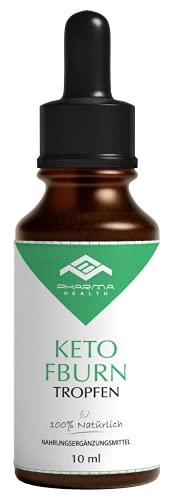 Keto FBurn Tropfen | Ketogen K Drops | Ketose Liquid | Kohlenhydratblocker | schnell und extrem | Einfach | 10 ml (1x)