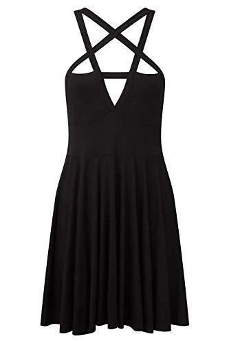 Fashion Dress Gothic Vintage Romantic Casual Dress for Women Black
