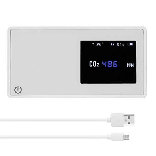 LILIS Carbon Monoxide Meter Haushalts-Luftqualitäts-Detektor-CO2-Tester mit Kohlendioxid-Wert Stromteil-Temperaturfeuchtigkeitsanzeige