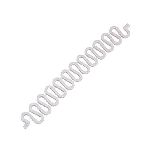 1PC Francés Estilismo Clip Palo fabricante del bollo trenza Herramienta Accesorios tuerza el pelo Trenza de pelo trenzar herramienta para muchachas de las mujeres (blanco) regalos para la familia