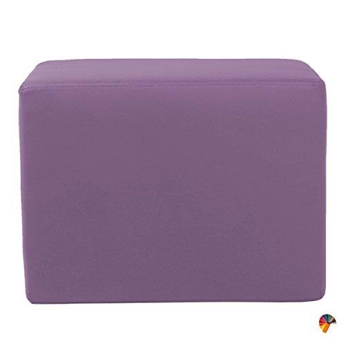 Arketicom Dado Pouf Ottoman Cube Repose Pied Tabouret Siege, Meubles Interieur Exterieur Design Made in Italy Puff Simili Cuir Tissu Fermeture Eclair, Nettoyage Facile