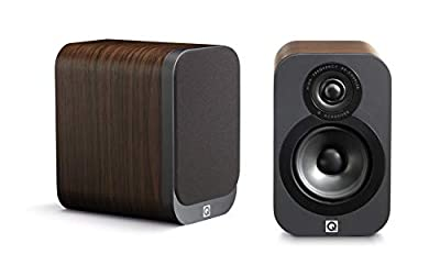 Q Acoustics 3010 Compact Bookshelf Speakers (Pair) (American Walnut) by Q Acoustics