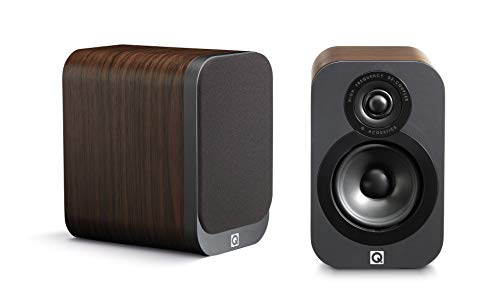Q Acoustics 3010 Compact Bookshelf Speakers (Pair) (American Walnut)