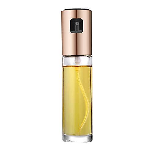 Spray de aceite, dispensador de aceite de oliva vinagre, botella de cristal de 100 ml para cocina, parrilla de cocina, cebo. Tamaño libre Rose-gold