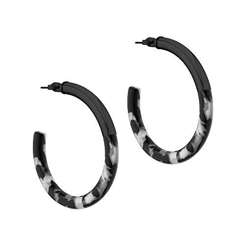 Liebeskind Ohrringe LJ-0528-E-50 Damen Creolen Edelstahl schwarz