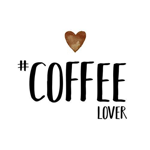 20 Servietten Coffee Lover als Tischdeko mit Spruch für das Frühstück oder zum Kaffee 33x33cm