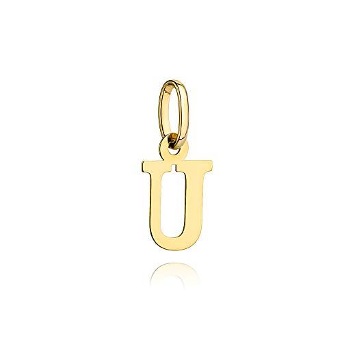 Colgante de letra para mujer Zlocisto Muestra de oro amarillo 585 , altura con asa de aproximadamente 17 mm Joyas de oro atemporales y elegantes en una caja de alta calidad