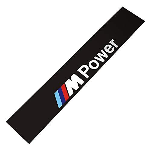 Demupai - Windschutzscheibe Banner Aufkleber Vinyl - Aufkleber für M Power - Zubehör (Matte Schwarzen Hintergrund)