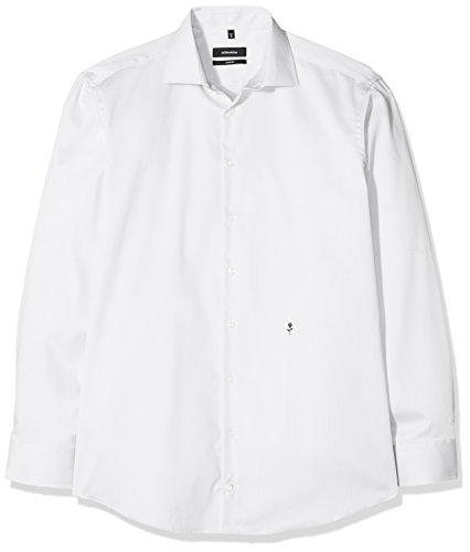 Seidensticker Seidensticker Herren Business Hemd Comfort Fit - Bügelfreies Hemd mit Kent-Kragen und bequemem Schnitt - Langarm - 100% Baumwolle, Blau (Weiß 1), 39 CM