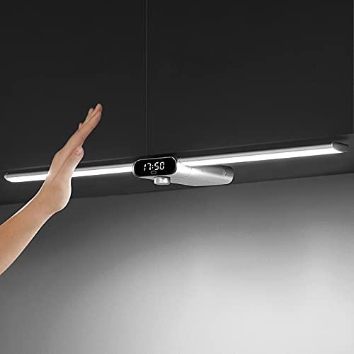 EZVALO Luky   LED Luz Armario De La Cocina Inalámbrica Regulable   Plata   Interruptor De Sensor Sin Contacto   55cm   Luces De Gabinete Led En Blanco Neutro 5000K De La Cocina