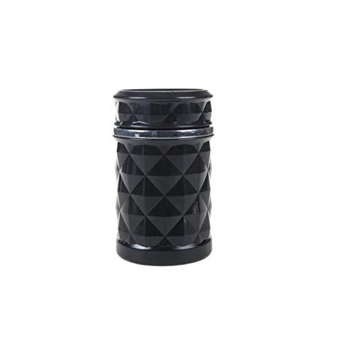 COLiJOL Soportes de Cigarrillos de Cigarrillo de Cigarrillos Ashtray Plastic Portable Portátil Ractable Cenicero (11 * 7.5Cm) (Color: Blanco)/Negro