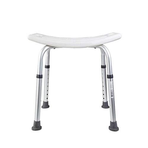 JKUNYU Einstellbare Höhe Badewanne und Dusche Stuhl Dusche Bank bei der Unterstützung der ältere Menschen, Schwangere und Behinderte ein Bad nehmen (weiß) Badehocker, Badezimmer Badezimmerrollstühle