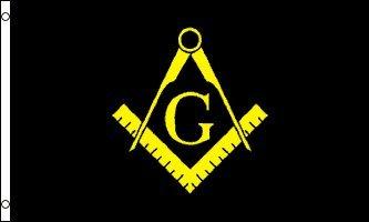 AZ FLAG Masonic Black Flag 3' x 5' - Freemasonry Flags 90 x 150 cm - Banner 3x5 ft