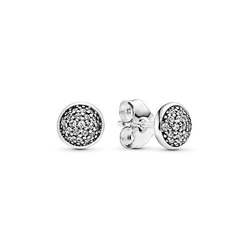 Pandora 290726CZ–Pendientes de mujer de plata de ley 925,circonita blanca