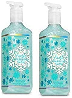 Bath and Body Works 2 Pack Fresh Sparkling Snow Creamy Luxe Hand Soap. 8 Oz.