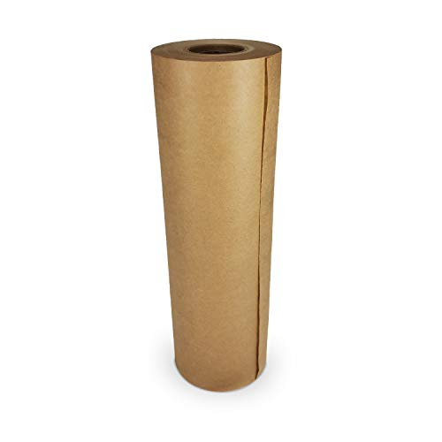 IDL Packaging - GPH-9 9' x 60-Yard Brown Masking Paper Roll to Cover Area — Natural Painter's Paper Roll — Kraft Paper for Painting — Floor Covering for Protection from Water-Based Materials