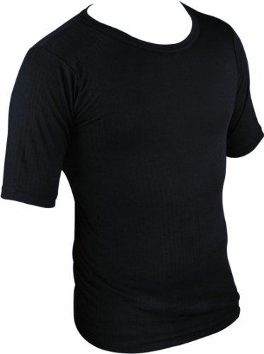 HIGHLANDER T-Shirt Thermique à Manches Courtes pour Homme Baselayer Noir Noir x-Large