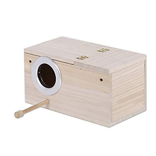 TONGXU Vogel-Nistkasten aus Holz für Papageien, Sichtfenster, Vogelzuchtkasten, Niststation für Vögel, kleine Größe