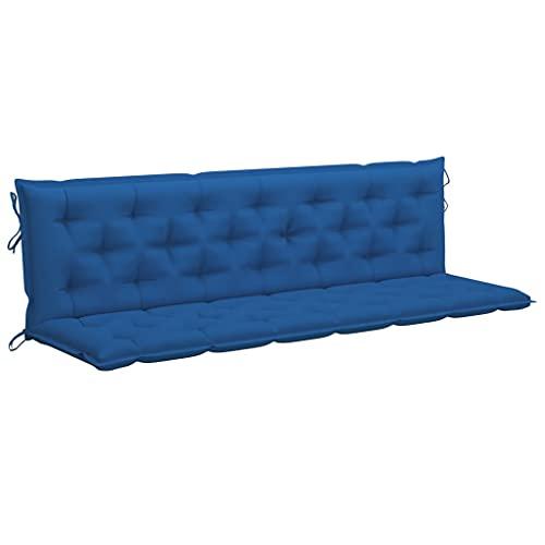vidaXL Auflage für Hollywoodschaukel Gartenschaukel Sitzkissen Rückenkissen Sitzpolster Polster Kissen Bankkissen Bankauflage Blau 200cm Stoff