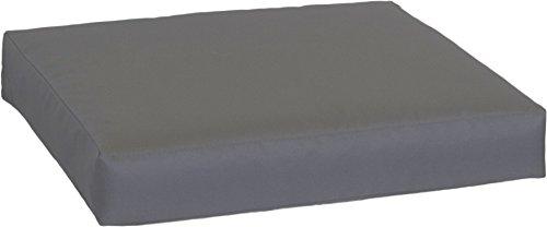 Beo Sitzkissen 80x80 cm wasserabweisend für Lounge Gartenmöbel | Made in EU Lounge-Kissen Anthrazit | Stuhlkissen mit Reißverschluss und herausnehmbarer Füllung | Öko-Tex geprüft schadstofffrei