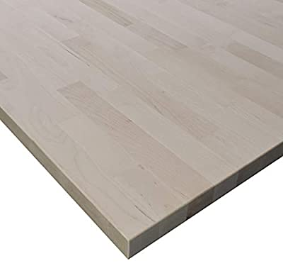 """Allwood 1.5"""" x 36"""" x 60"""" Birch Table/Counter/Island Top see all edge options (Sharp edges (no routing))"""