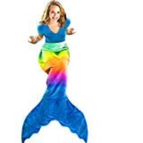 Blankie Tails The Original Mermaid Tail Manta con Cola de Sirena Minky Fleece para Adultos/Adolescentes - Rainbow Ombre