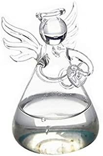 ghfcffdghrdshdfh Set of 4 Cute Clear Glass Angel Shape Flower Plant Hanging Vase Wedding Decor