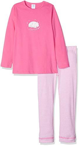 Sanetta Baby-Mädchen Pyjama Long Zweiteiliger Schlafanzug, Pink (Carmine Rose 3929.0), 80