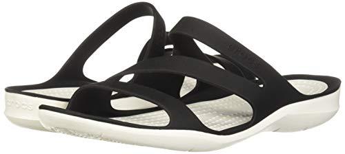 Croc's Crocs W Swiftwater Sandals 203998-066; Damen badelatschen; Schwarz; 41/42 EU (8 UK)