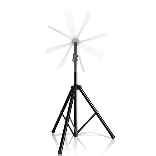 GIWOX Custom 3D Hologram Fan Stands,Tripod Height Adjustable Up to 82 Inches,35MM Compatible Insert,150lbs Weight Capacity,Safety Locking Knob & PIN Holographic Fan Holder