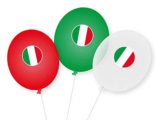 9 Luftballons * Italien * als Deko für Mottoparty, Länderparty und Geburtstag   Ballons Party Set Rom