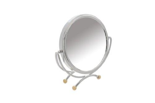 Danielle Miroir de table grossissant x 10 20 cm (Chrome/or)