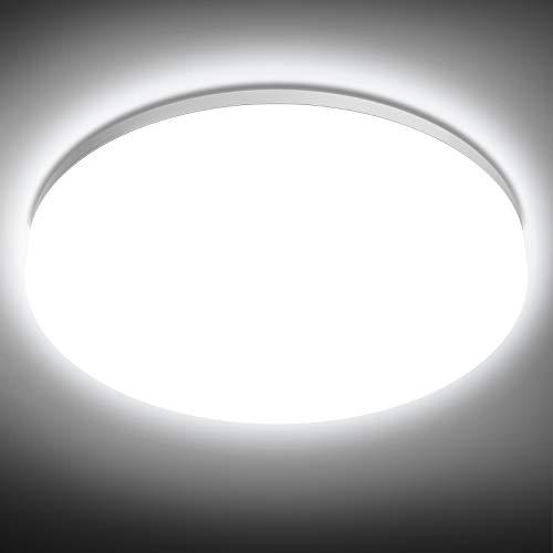 NIXIUKOL Plafón LED Techo 18W IP54 Impermeable Lámpara Techo para Baño 4500K Blanco Natural 1800LM Led de Techo para Baño, Dormitorio, Cocina, Pasillo, Salón 22cm