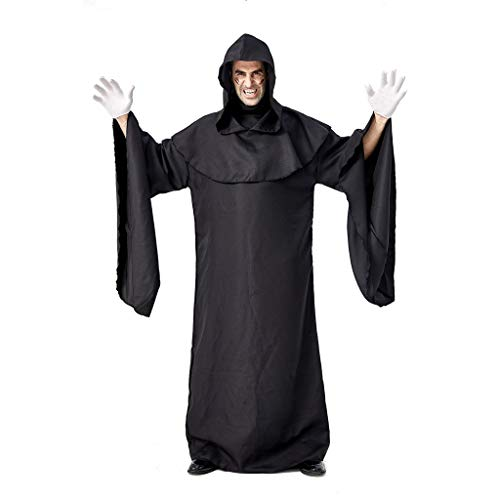 Purchase Male Magician Coat Vintage Punk Dressing Gown Cloak with Hat Middle Age Palace Cosplay Cost...