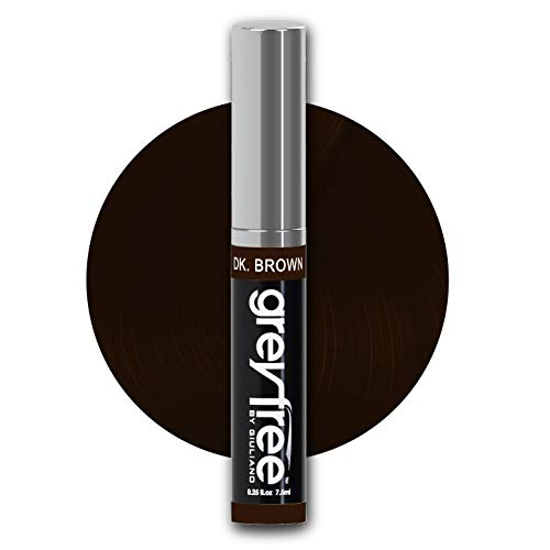 Greyfree, Root Touch Up, DARK BROWN Hair color, Brow Colour to Edit or Hide Gray Hair in an Instant, WOW! No Wunder Professional stylist agree 100% Grey Coverage