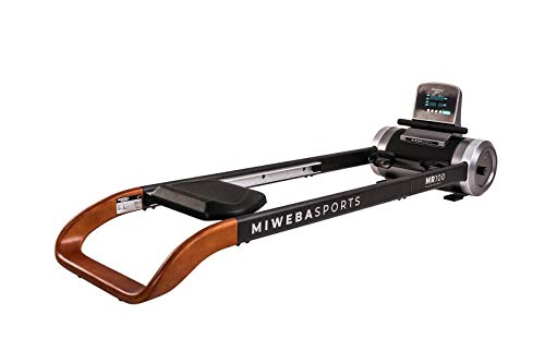 Miweba Sports Rudergerät MR100 - Rudermaschine - Magnetbremssystem - 6 Widerstandsstufen - Display (Grau Holz)