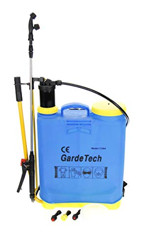 GardeTech Pulverizador a presión |20l de Capacidad |3 boquillas pulverizadoras |Pértiga telescópica de 80 cm |Manguera de conexión de 145 cm