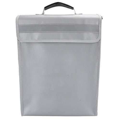 Bolsa de documentos a prueba de fuego, bolsa de almacenamiento de archivos multifuncional Bolsa resistente al agua a prueba de fuego Bolsa de dinero para almacenamiento seguro y plegable para porta do