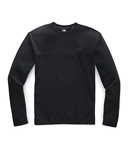 The North Face Men's TKA Glacier Pullover Crew, TNF Black/TNF Black, L